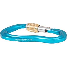 AustriAlpin Pirum GI Mosquetón de cierre roscado, azul